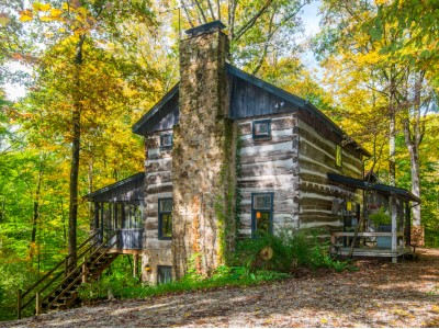 covered bridge cabin hills o 39 brown realty log cabin