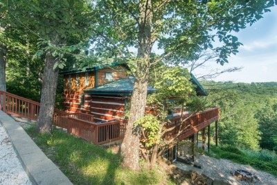 Heartstone vacation log cabin in brown county indiana for Ponte coperto cabina brown county