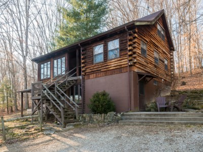 Moon shadow log vacation cabin in brown county indiana for Ponte coperto cabina brown county