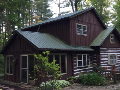 Atop Pine Hill Log Cabin Rental Brown County Indiana Log Home Porch Designs Enclosed Html on